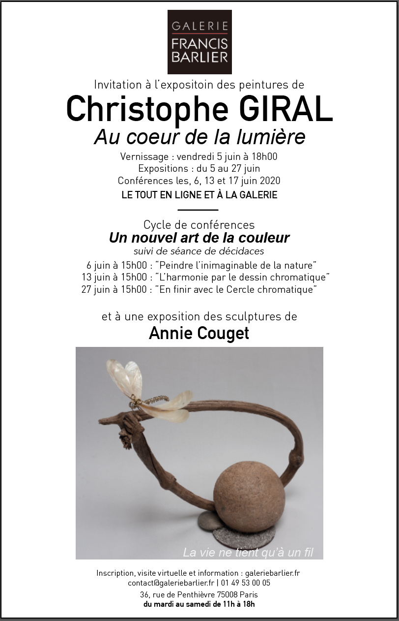 invitation Christophe Giral et Annie Couget Galerie Francis Barlier 2
