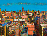 manhattan 146cmx114cm 2020 acrylique on cancas