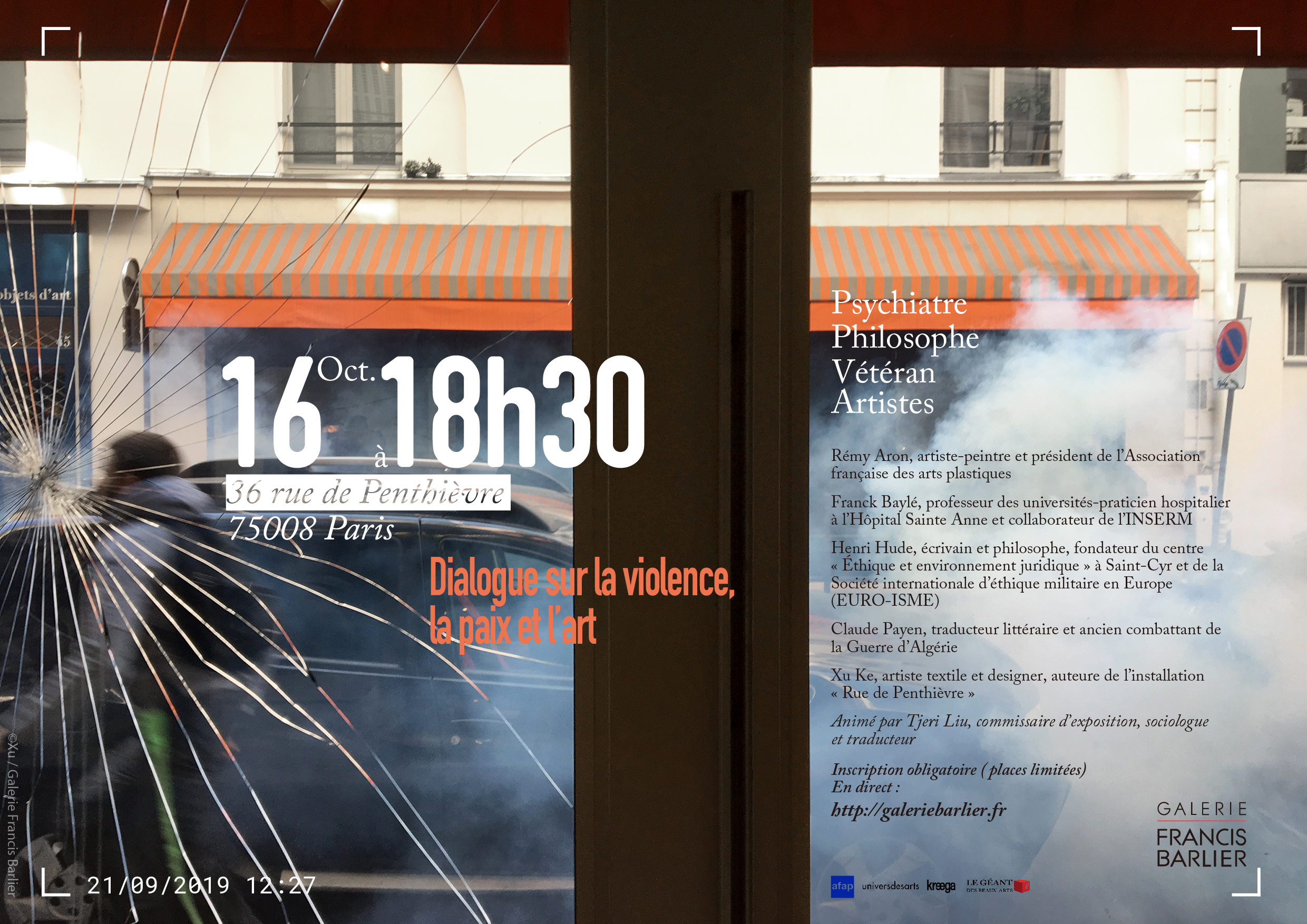 Dialogue on Violence, Peace and Art (in French)